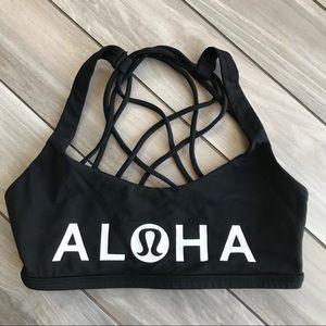 HAWAII Lululemon ALOHA Black Free to Be Wild Bra 4